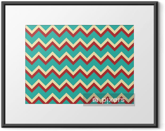 Ingelijste Poster Naadloze patroon - Mode