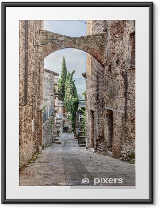 Póster Enmarcado Italiano antiguo callejón - Temas