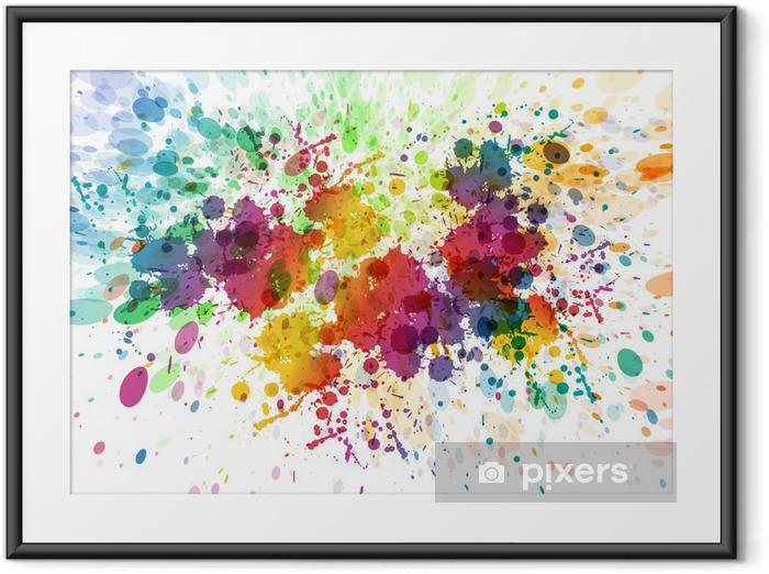 Gerahmtes Poster Raster-Version von abstrakten bunten splash Hintergrund - Hobbys und Freizeit