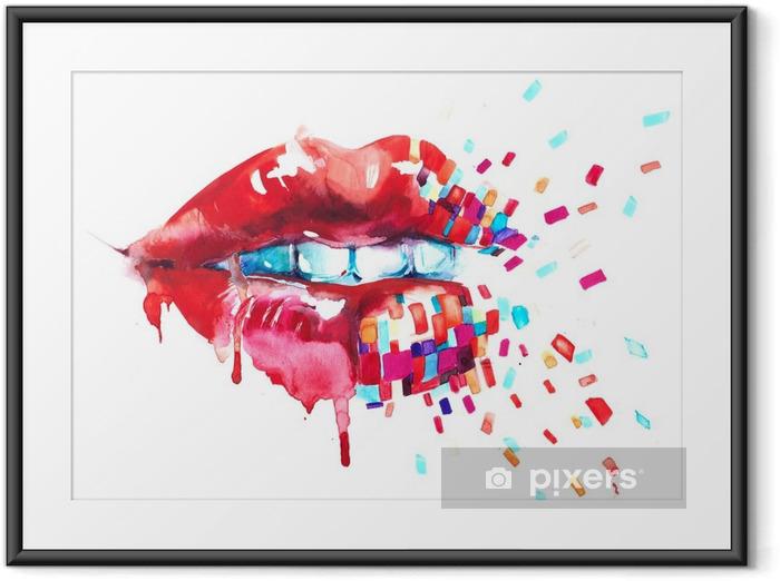 Poster en cadre Lèvres - Style de vie
