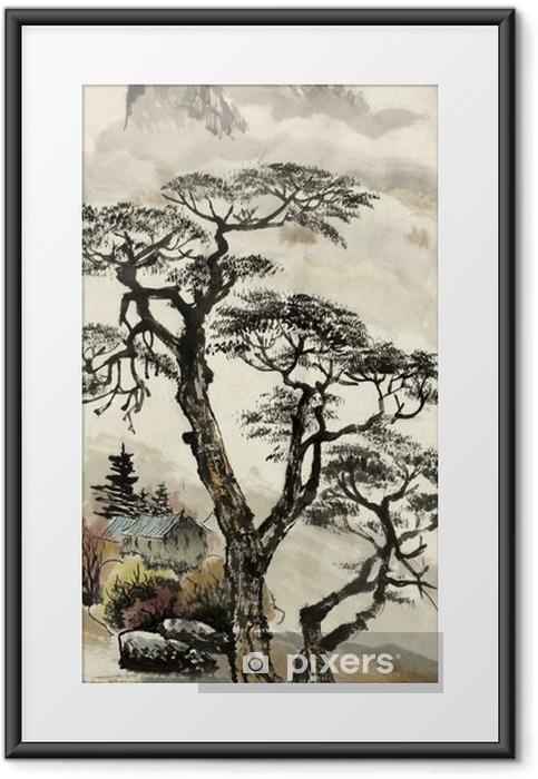 Plakat w ramie Chiński krajobraz z drzewa - Hobby i rozrywka