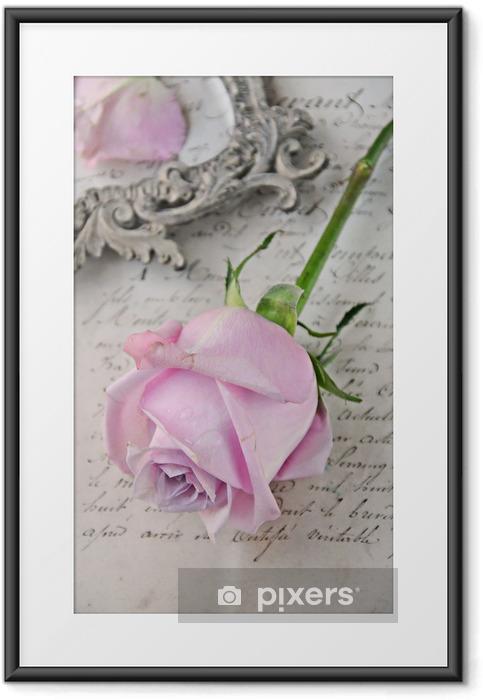 Ingelijste Poster Vintage rose - Thema's