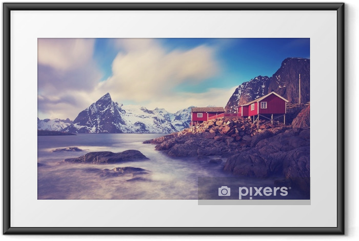 Plakat w ramie Lofoty w zimie - Krajobrazy