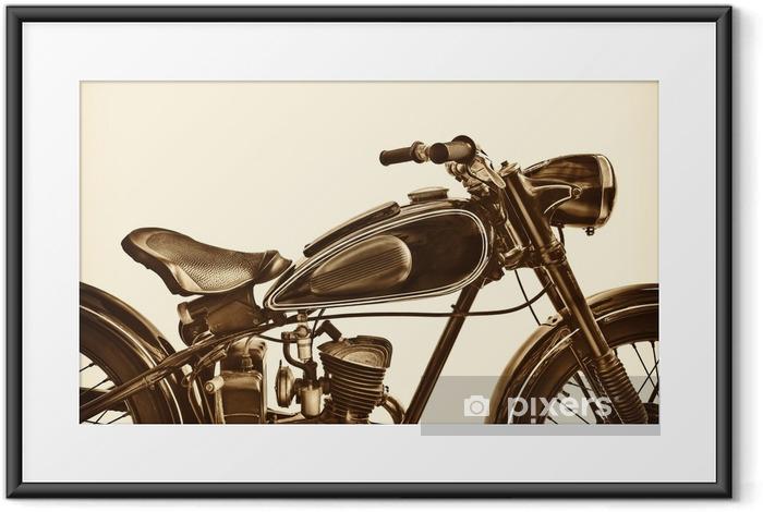 Poster en cadre Image sépia d'une moto vintage - Transports