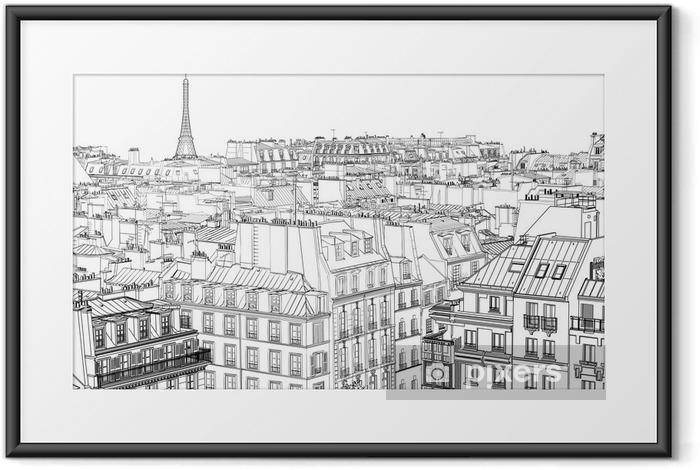 Poster en cadre Les toits de Paris - Styles