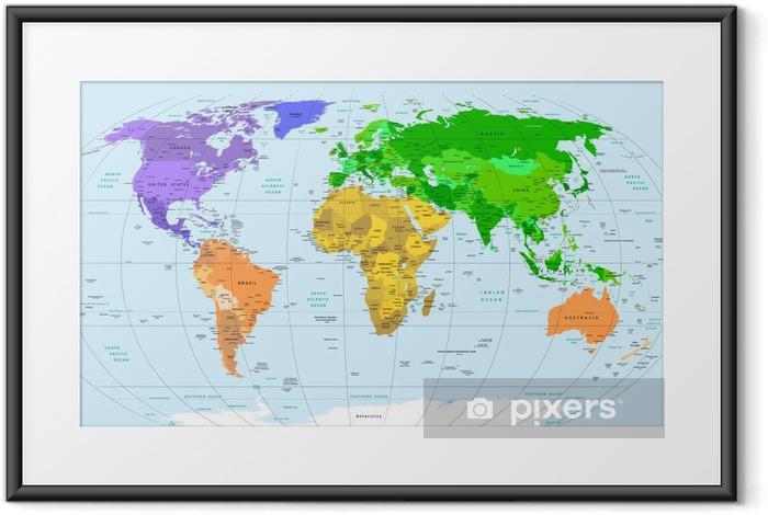 Plakát v rámu Map world - Témata