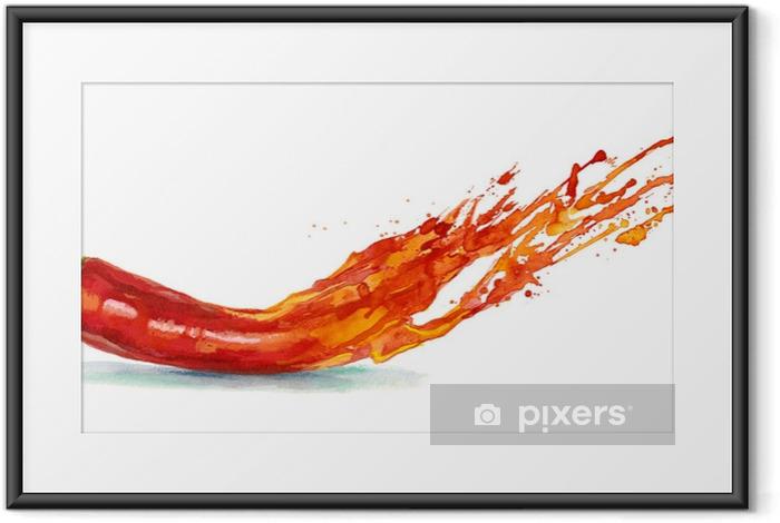 Plakat w ramie Pieprz chili - Jedzenie