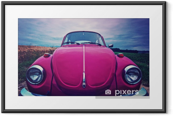 Poster in Cornice Beetle frontale - auto cult in Germania - Trasporti