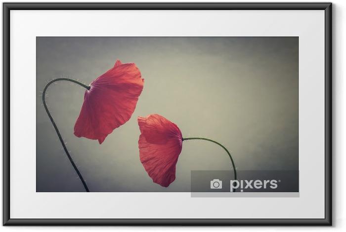 Poster i Ram Konst vallmo - Växter & blommor