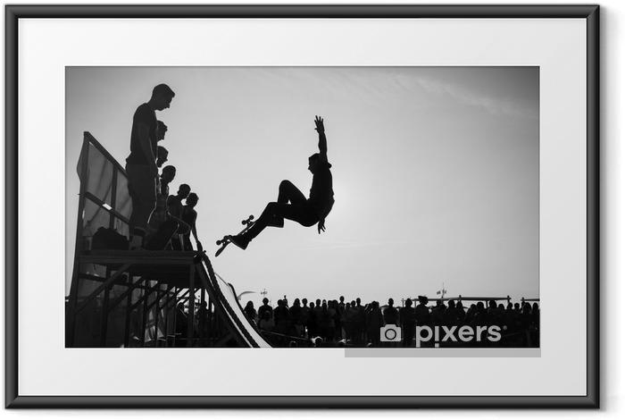 Ingelijste Poster Jump - Skateboarding