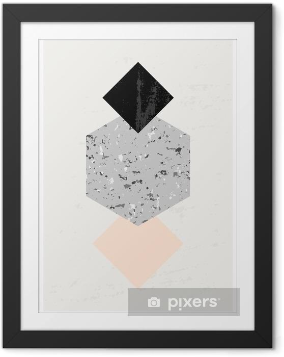 Ingelijste Afbeelding Abstracte Geometrische compositie. - Grafische Bronnen