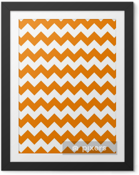 zig zag chevron pattern background vintage vector illustration Framed Picture - Celebrations