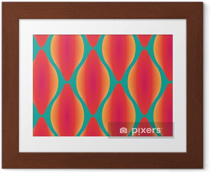 Obrazek w ramie Wektor kolorowe abstrakcyjne bez szwu geometryczny wzór współczesnej - Zasoby graficzne
