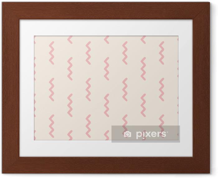 Obrazek w ramie Bez szwu geometryczny wzór - Zasoby graficzne