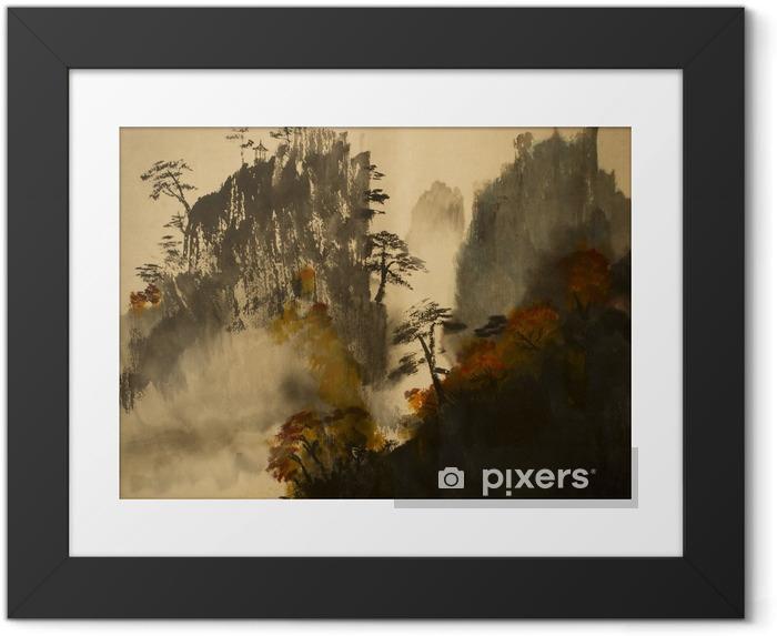 Obrazek w ramie Jesień w górach Chin - Krajobrazy