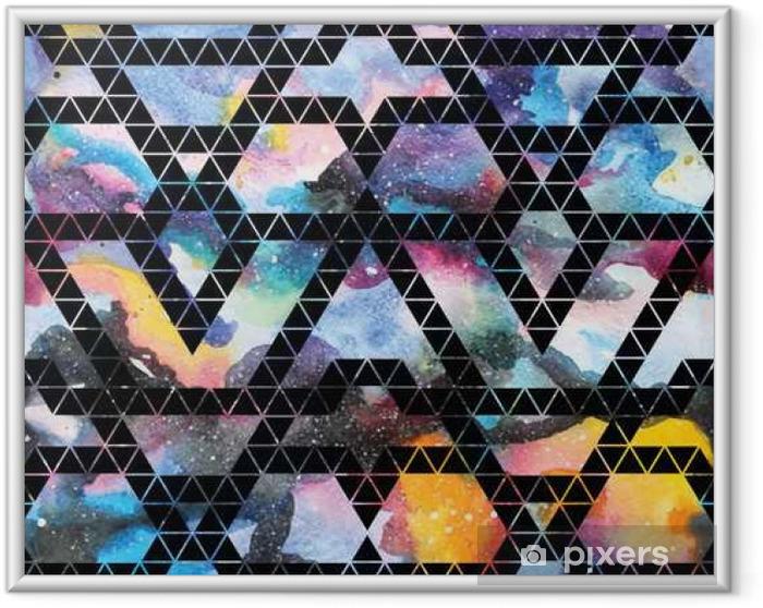 Ingelijste Afbeelding Tribal melkweg naadloos patroon. - Grafische Bronnen