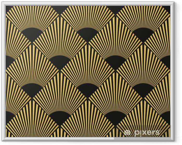 Obrazek w ramie Wzór w stylu art deco - Zasoby graficzne