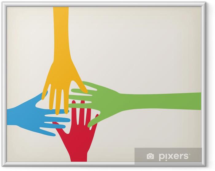 Gerahmtes Bild Hände Anschluss - Geschäftskonzepte