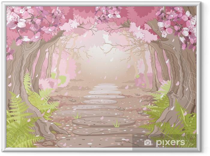 Ingelijste Afbeelding Magic voorjaar bos - Thema's