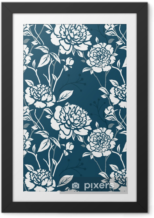 Seamless pattern Framed Picture - Backgrounds