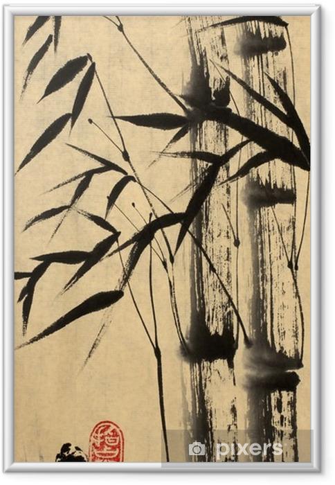 Immagine in Cornice Due albero di bambù - Hobby e Tempo Libero