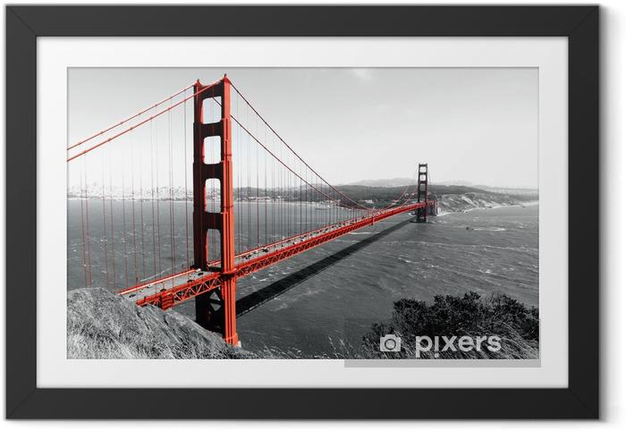Obrazek w ramie Czerwony most Golden Gate - iStaging