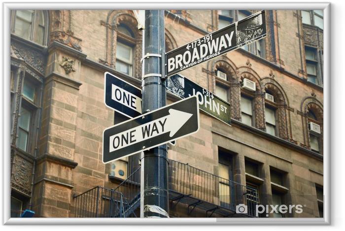 Lámina Enmarcada Broadway - Ciudades norteamericanas