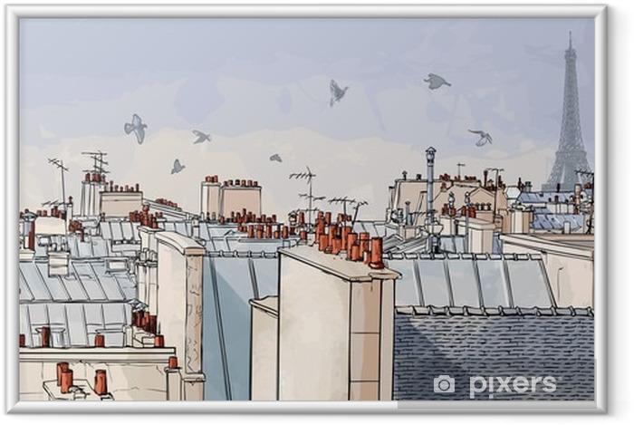 Image encadrée France - les toits de Paris -