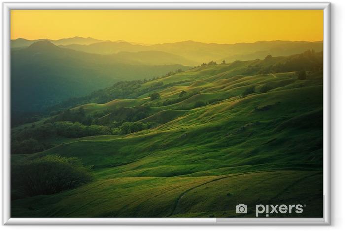 Ingelijste Afbeelding Het landschap van Noord-Californië - Ontspanning