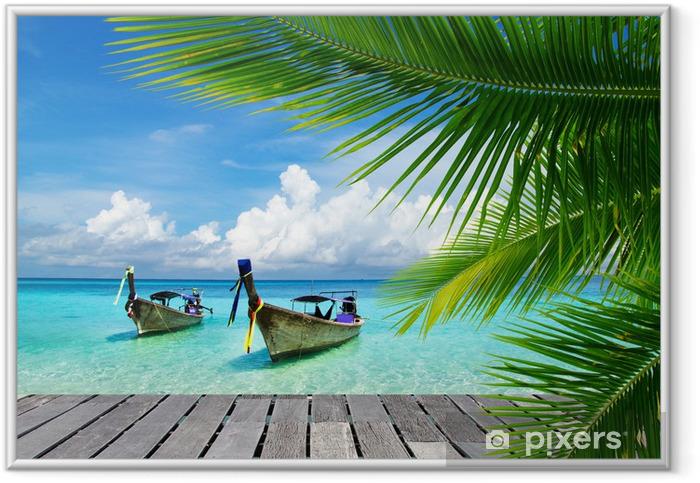 Ingelijste Afbeelding Dek met uitzicht op een tropische zee - Bestverkocht