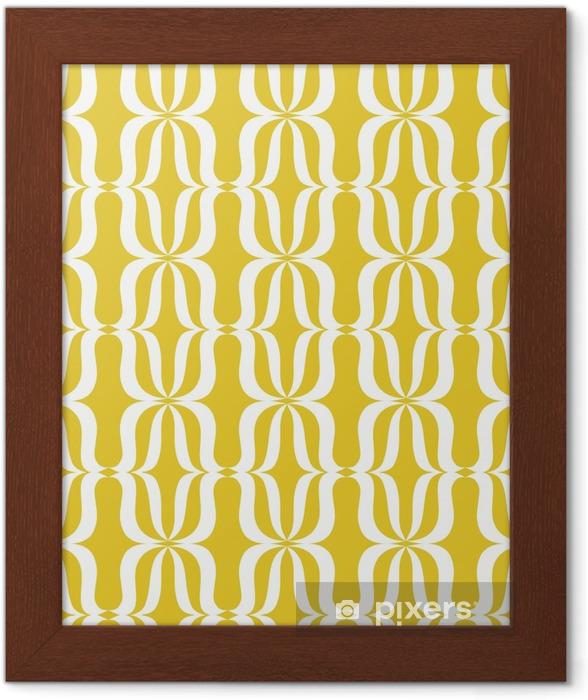 Plakat w ramie Powtarzalny rocznika wzór - Zasoby graficzne
