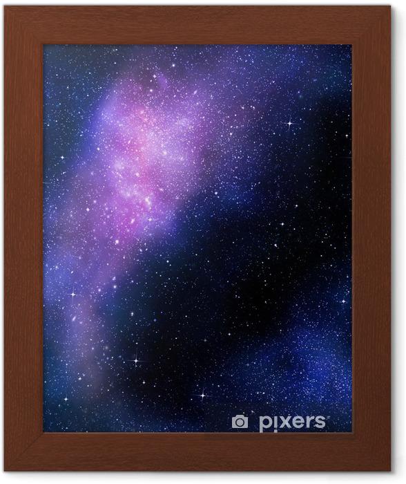 Poster en cadre Étoilé nebual profonde espace extra-atmosphérique et la galaxie - Étoiles