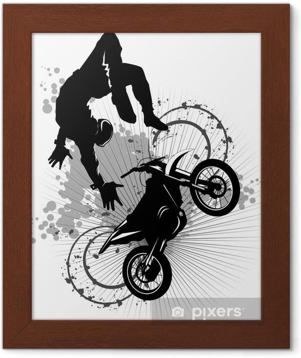 Plakat w ramie Moto atrakcją - Sporty ekstremalne