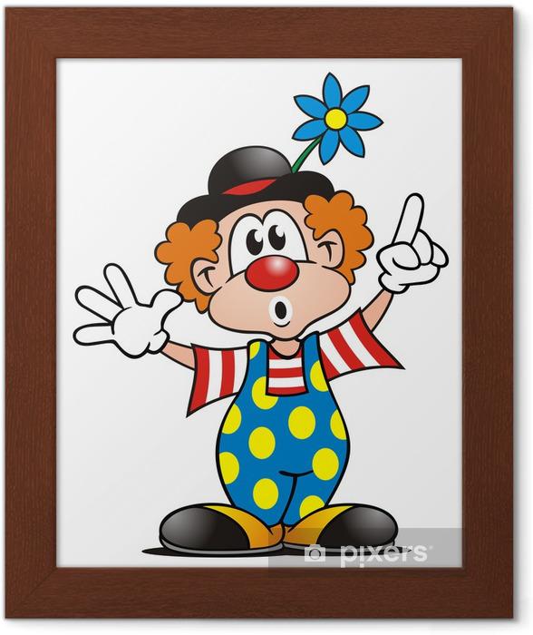 Ingelijste Poster Clown verbaasd - Amusement