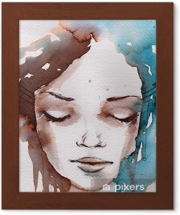 Plakat w ramie Zima, zimno portret - Style