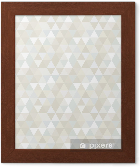 Seamless Triangle Pattern, Background, Texture Framed Poster -