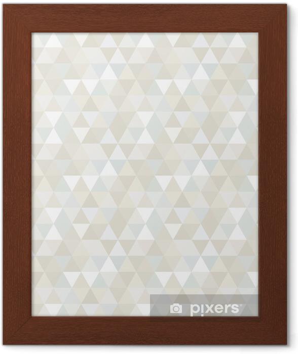Poster en cadre Seamless Triangle, fond, texture -
