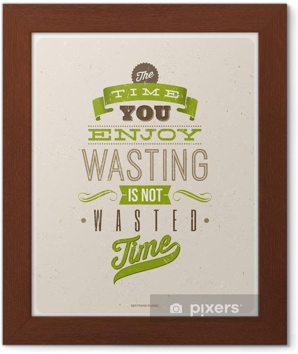Gerahmtes Poster Zitate Von Bertrand Russell Typografische Vektor Design