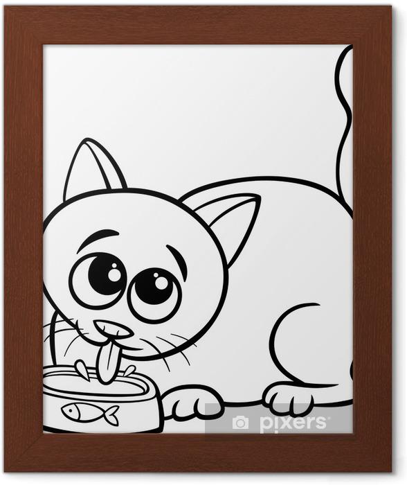 Kedi Içme Sütü Boyama çerçeveli Poster Pixers Haydi Dünyanızı