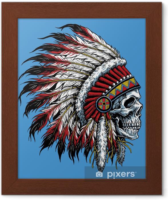 Póster Enmarcado Cráneo indio ilustración vectorial - Estilos
