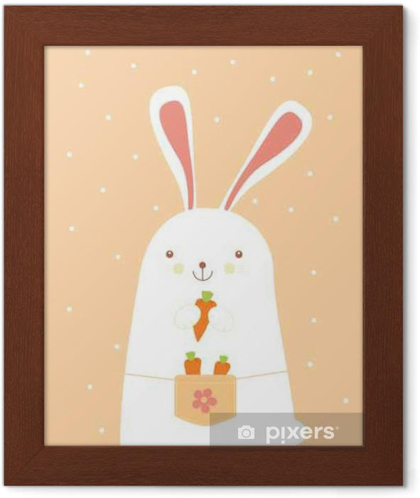 Bunny with carrots Framed Poster - Animals
