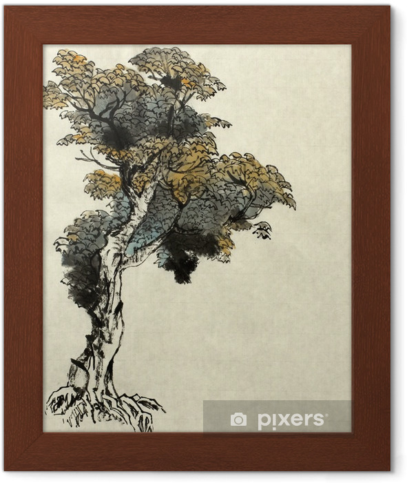 tree drawing example Framed Poster - Plants and Flowers
