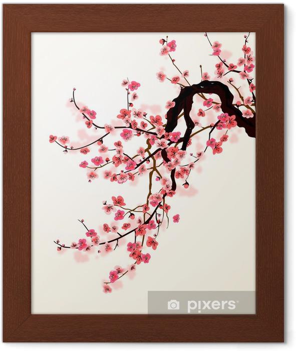 Plakat w ramie Sakura - Style
