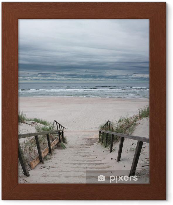 Plakat w ramie Plaża - Morze Bałtyckie - Morze i ocean