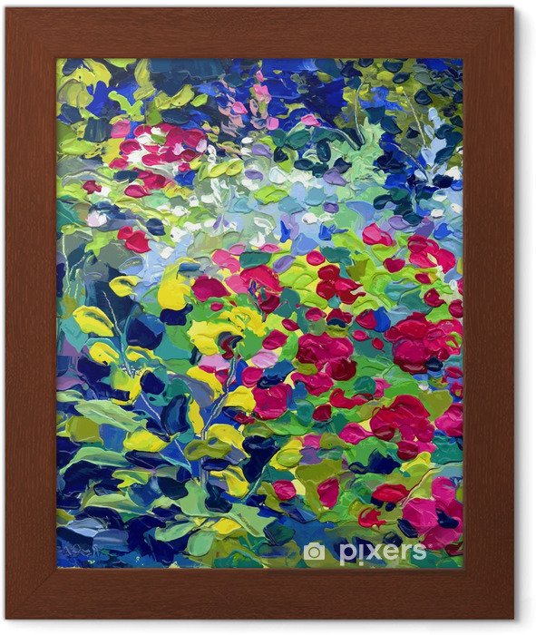 oil painting vector illustration Framed Poster - Themes