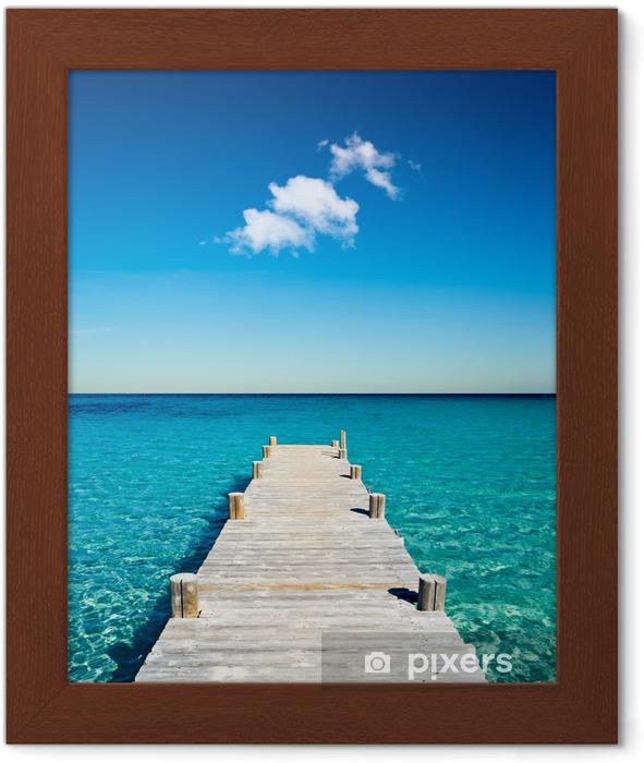 Plakat w ramie Beach Boardwalk wakacje -