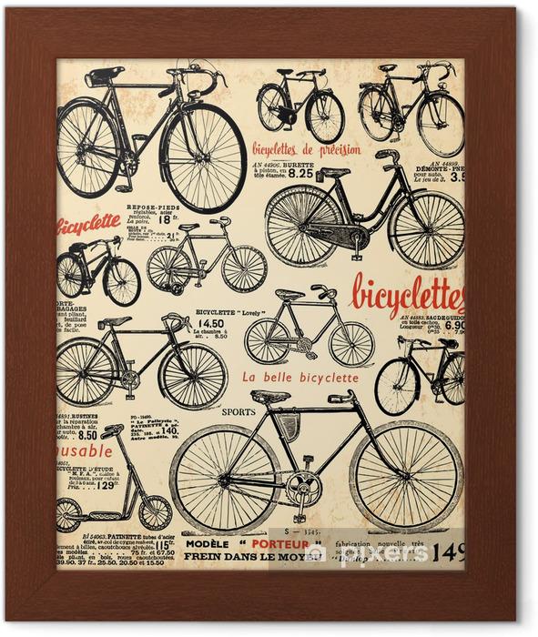 Poster en cadre Fond vélo -