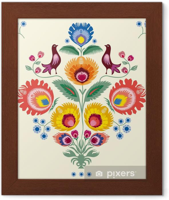 Kwiaty lowickie Framed Poster - Styles