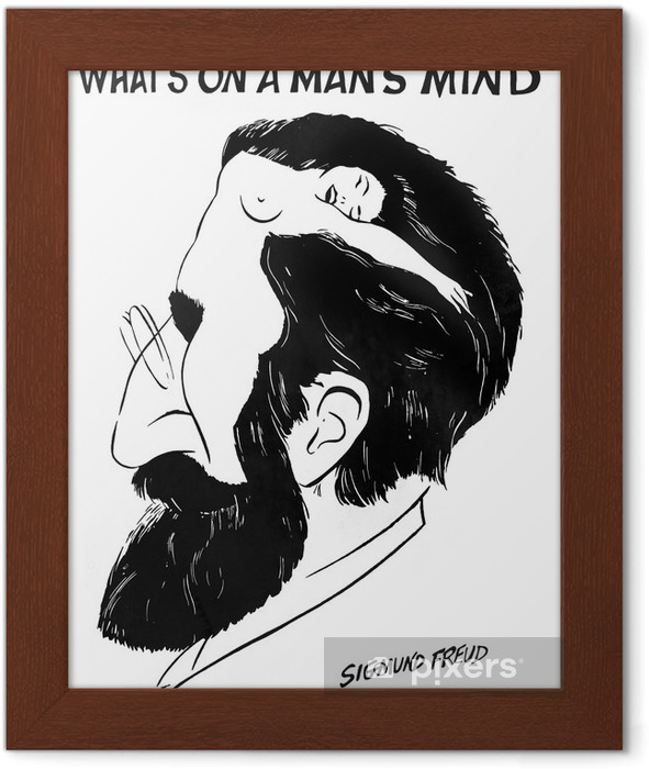 """""""What is on a man's mind"""" by Sigmund Freud Framed Poster - iStaging"""