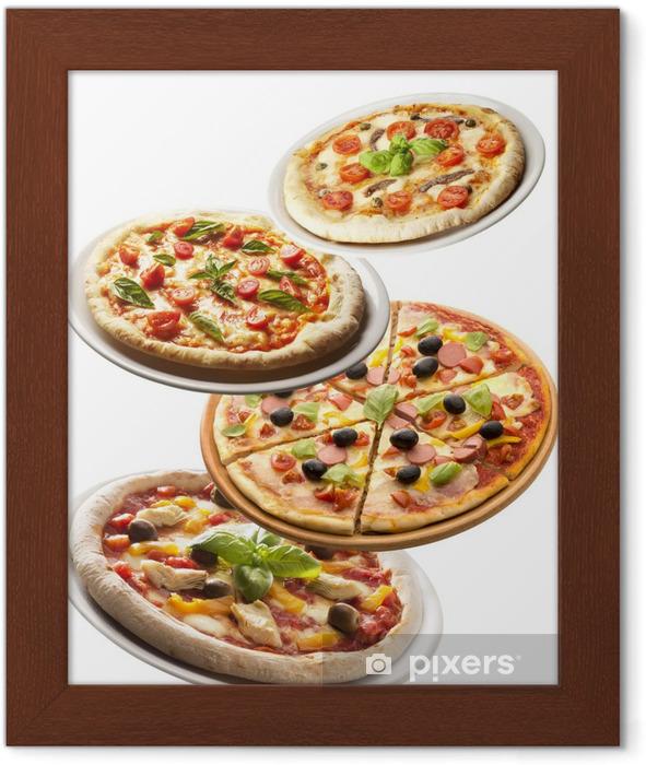 Poster en cadre Pizzas - Repas